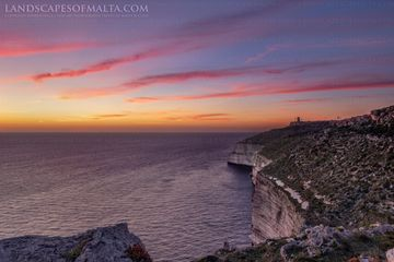 sunset from dingli cliffs. Derren Vella Malta landscape photography and fine art prints of Dingli