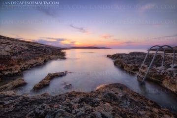 L-Ahrax Beach at Dusk - Mellieha at Sunset - Landscapes of malta. Derren vella fine art landscapes