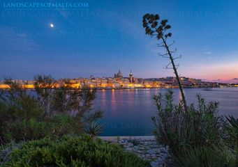 Valletta at dusk Photography panoramic views of malta and gozo by derren vella. landscapes of malta