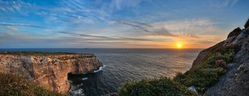 Xaqqa cliffs in siggiewi. A lovely panorama at sunset by Xaqqa cliffs in siggiewi by Derren Vella