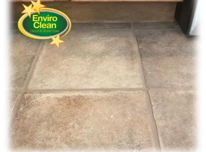 Enviro Cleans premium grout color seal.