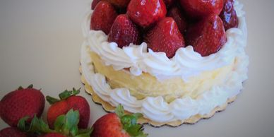 Fresh Strawberry Cheesecake order for pick up San Diego Birthday cakes near me Bakeries near me