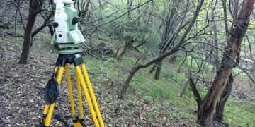 Topography surveying for a leach field.
