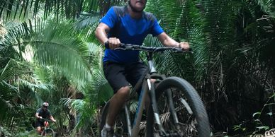 We do jungle easy bike rides but also we can ride for advanced riders