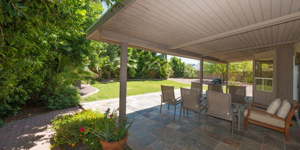 SOLD $320K: Covered patio of a Glendale remodel close to Arrowhead and Midwestern University in Arizona.