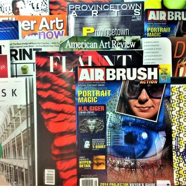 Featured in and on cover of Airbrush Action Magazine for Hyper- detail painting of Clotho.