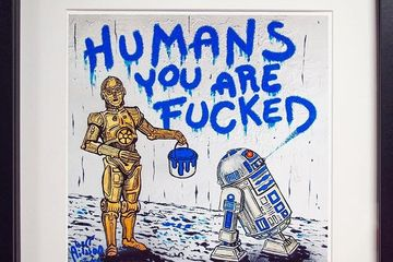 Humans you are fucked - art work by Herr Nilsson