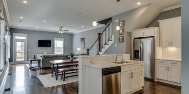 Sober Living Halfway House in Nashville Tennessee Luxury open Floor Plan upscale Kitchen High End