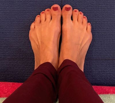 Yoga is practiced barefoot.