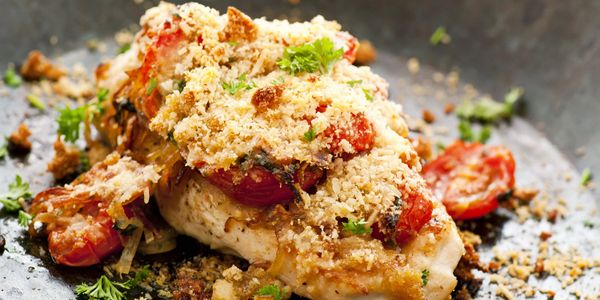 Baked,chicken, oven, roasted, Italian, parsley, parmesan, fresh, healthy, dinner, meal, entree,