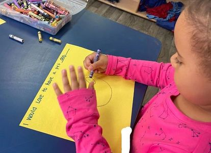 preschool child drawing