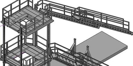 Scale detailing as-building of a folding work platform