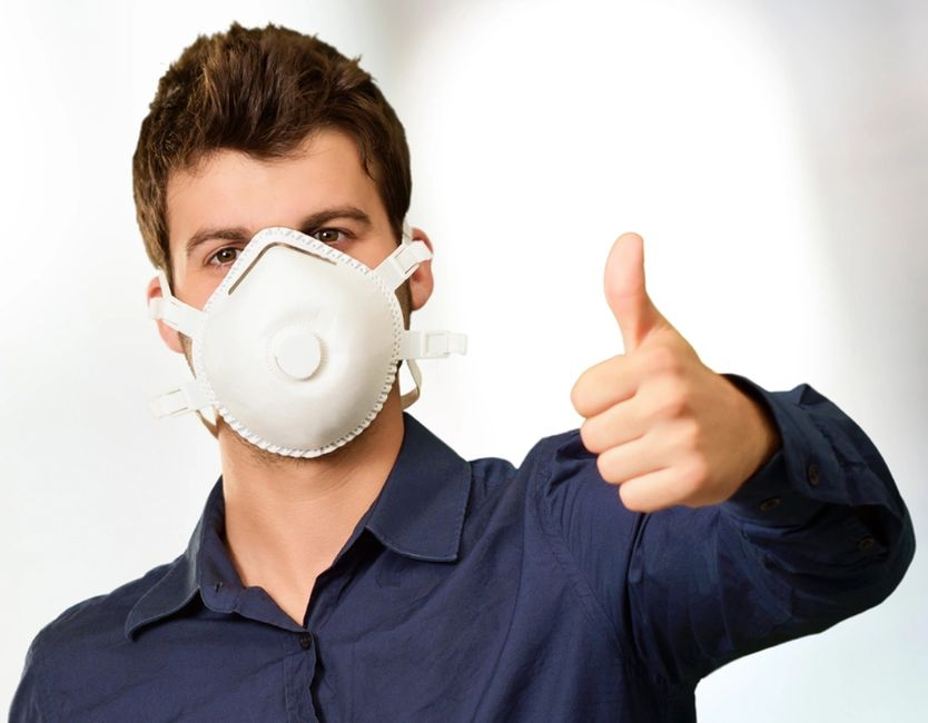safety training for voluntary dust mask users covering Appendix D of OSHA respirator standard