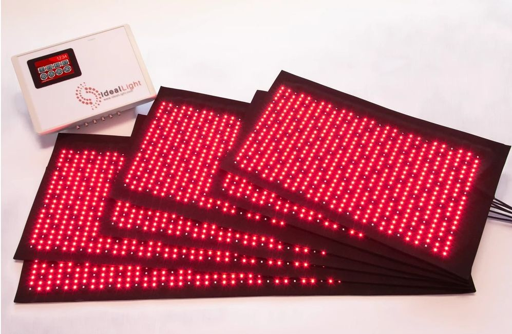 Red light therapy pads and machine