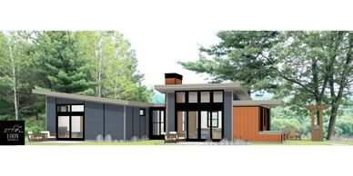 Idea home - Forever Home 2020 - Loon Architects custom home design for using aging in place concepts.