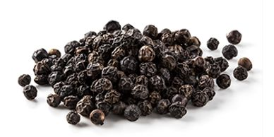Showing Whole Black Pepper from Brazspice Spicehouse Brazil.
