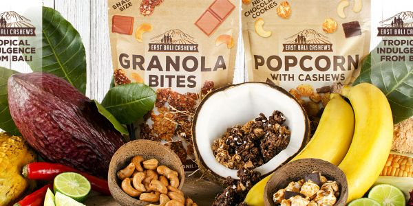 Granola Bites and Popcorn :Chocolate/ Vanilla, Coconut, Banana, Tropical Fruits, Brazspice Brazil