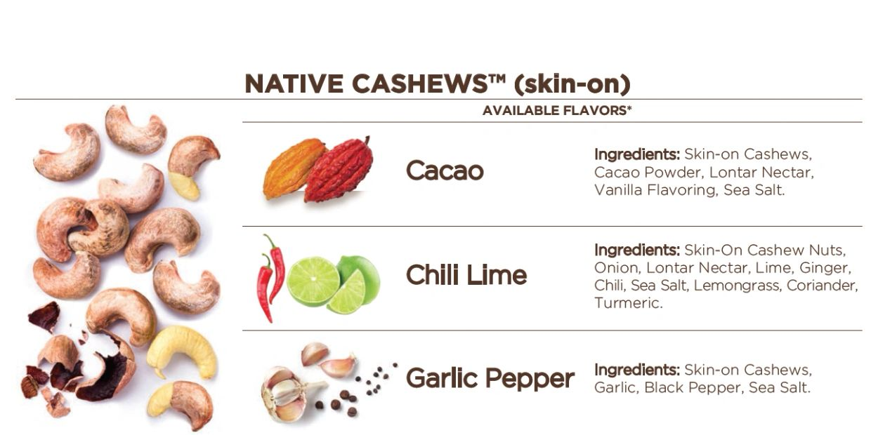 Showing our Flavored Cashew of Brazspices Spices Brazil