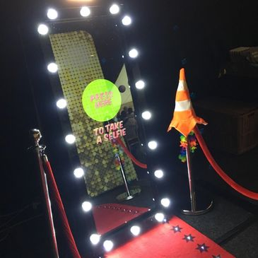 Our amazing magic selfie mirror. Bring the photobooth fun upto date with our Hollywood magic mirror