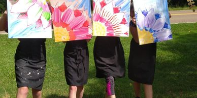 canvas painting in bloom!