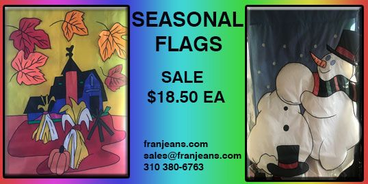 seasonal holiday flag at franjeans in gardena great price