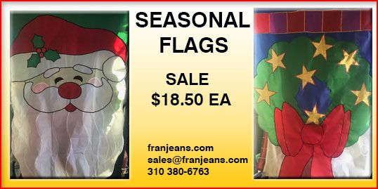 christmas seasonal Flags size 5 x 3 great price.