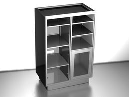 * Stainless steel 304, brushed finish * Doble bays Cabinet for Operation Room * Adjustable shelves,