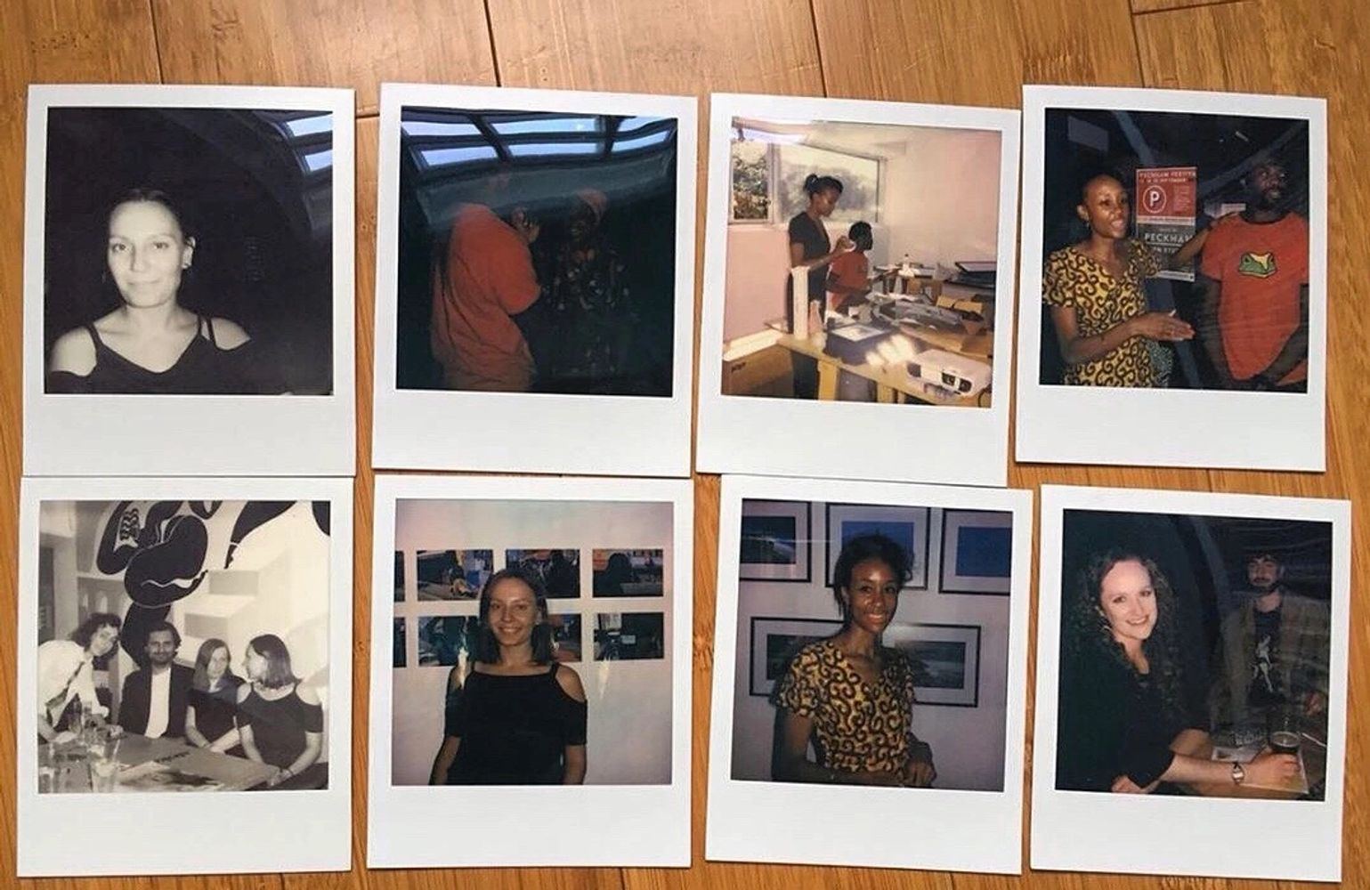 landing page photo of diverse people on polaroid colour photos.