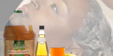Why is  apple  cider vinegar used after a relaxer. Vinegar removes chemicals absorbed by your hair