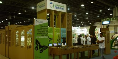 Environment expo stand in cardboard in Qatar.