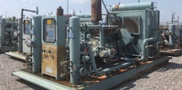 Caterpillar G3306NA/ Ariel JGP-2/ 2 stage natural gas compressor package for sale.
