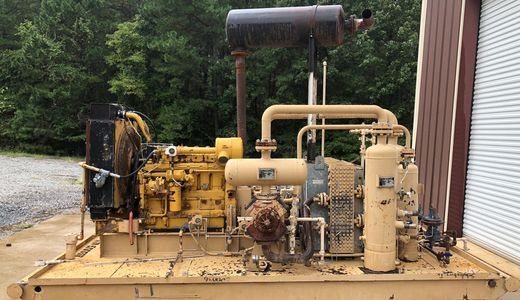Caterpillar G3306NA natural gas engine Gemini GE H302 3 stage compressor package unit ariel waukesha