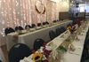 An actual wedding setup at the Hall - head table.