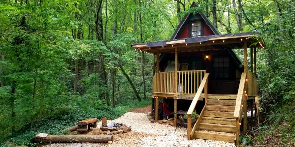 HILLTOP LOFT at Bear Creek Lodge and Cabins in Helen Ga Hot Tub Mountainside Fire Pit 1 Q & 3 T