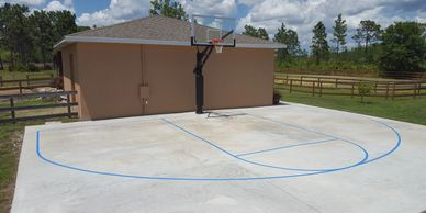 Basketball Court Marking Basketball Goal Assembly Installation Moving Repair Removal Set Up Relocation Disposal Orlando