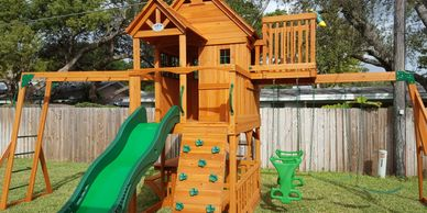 Playset Installation Swingset Assembly Playground Installers Stain and Seal Moving Services