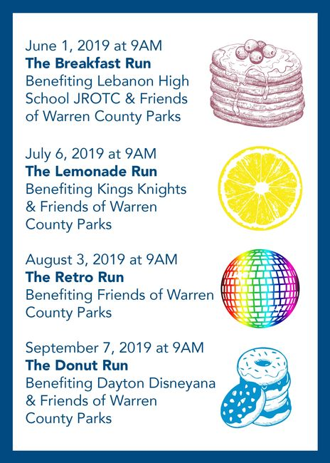 The 2019 Warren County Park District  Fun Run/Walk Series