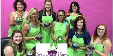 Plant Party, succulent party, plant nite, plant workshop