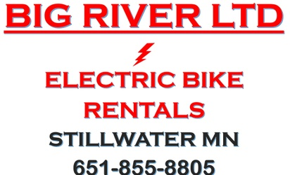 Big River Ltd electric assist bike rentals, Stillwater Minnesota