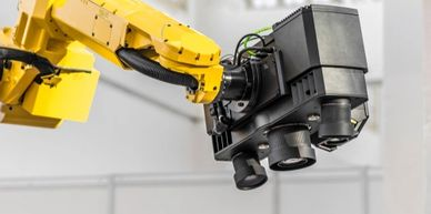 Robotic industrial machine vision camera