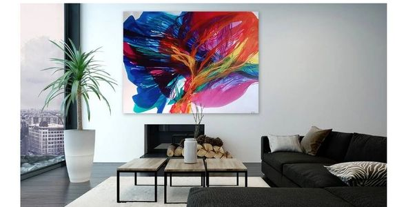 Kate Word, abstract art, unique fluid paintings, large, bold colors, contemporary, modern art
