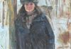 Rachael in Winter, Oil on Canvas