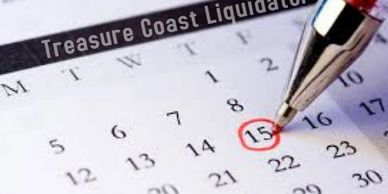 Schedule a time frame for estate sale with Treasure Coast Liquidator 772-200-0167