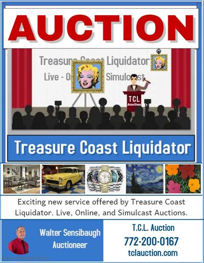 Treasure Coast Liquidator  provides Live and Online Auctions.