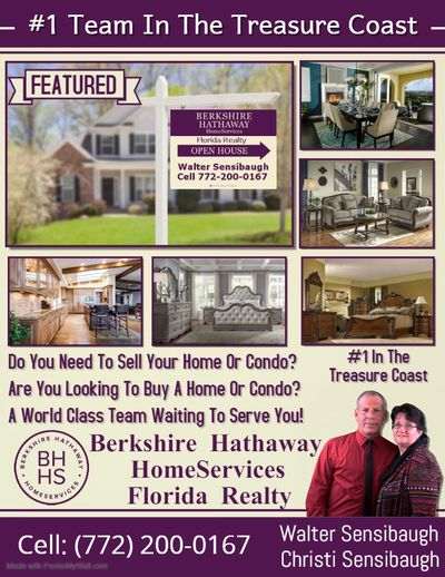 Treasure Coast Liquidator provides Real Estate Services thru Berkshire Hathaway HomeServices 772-200-0167