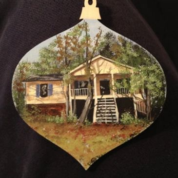 Custom Painted House Ornament