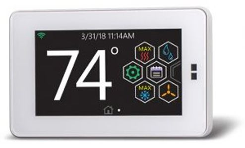 A thermostat control unit for ahome hvac system.