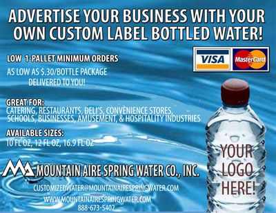 Custom label bottle water and label template design