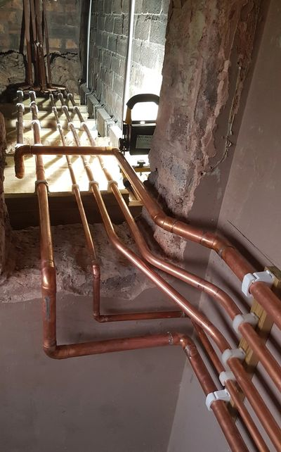 Copper pipe work HMO PLUMBING WATER
