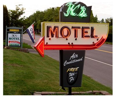 K's Motel & Cottages, our new classic sign